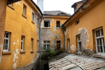 Bulgarian thermal spa mineral baths courtyard