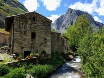Bulnes Asturias Spain Reachable only by foot until a funicular opened in