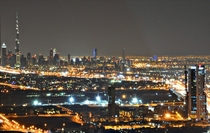 Burj Khalifa and Downtown Dubai from my balcony tonight  km away