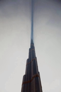 Burj Khalifa cutting cloud in half