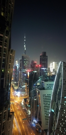 Burj Khalifa from my hotel room  floors up