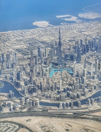 Burj Khalifa - the worlds tallest building and downtown Dubai