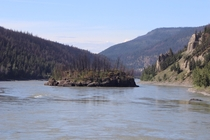 Burned island Fraser River Near Williams lake British Columbia OC x