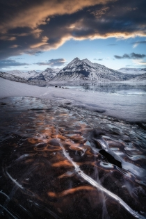 Burning ice Stfluvatn Iceland