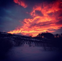 Burning Sky in Norway   x
