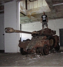 Burnt out French Tank in New Jersey