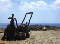 Burnt-out pump Foinikas Crete
