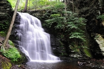 Bushkill Falls PA - Short hikes and multiple beautiful waterfalls