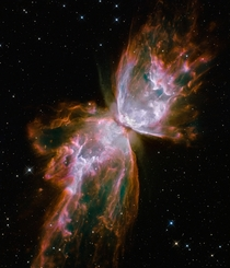 Butterfly Emerges from Stellar Demise in Planetary Nebula NGC  taken by NASA Hubble x