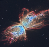 Butterfly Nebula NGC  seen from the Hubble space telescope Its wingspan covers over  light-years
