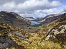 Buttermere from Green Crag Lake District UK