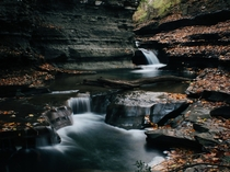 Buttermilk Falls in Ithaca NY