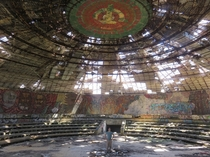 Buzludzha the former seat of the Bulgarian Communist Party