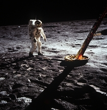 Buzz Aldrin on the first moon walk  years ago