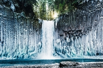 By far the coolest hike I have ever been on Amazing ice formations at Abiqua Falls Oregon