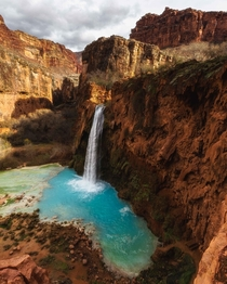 By some freak occurrence I was the only human being here all day long a place that is normally packed with people It was surreal Havasupai Indian Reservation United States IGNatureProfessor