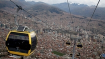 Cable-car transit system over La Paz Bolivia