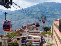 Cable Cars in Medelln Columbia