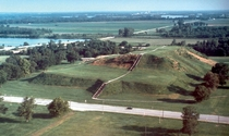 Cahokia Mounds built by Native Americans in Collinsville Illinois