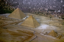 Cairo Egypt and The Great Pyramids of Giza Lucky shot out of the plane writes Tim N