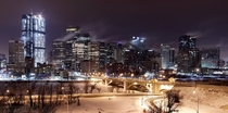 Calgary on a cold winter day