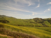 California Central Coast hills