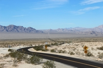 California State Route  at the intersection with State Route  One of the most desolate stretches of highway in California