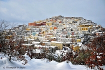 Calitri Italy in Winter