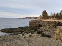 Calm afternoon along the Bay of Fundy Nova Scotia Western shore