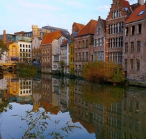 Calm afternoon at Ghent aka Gent Gand Belgium