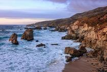 Calm blue hour over Big Sur California
