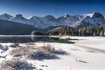 Calm Water Crisp Ice Clear Sky x Upper Kananaskis Lake Alberta by Murray Cotton OC Murray C