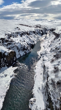 Came across this canyon in Iceland No signs no markings