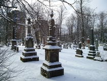 Camp Hill Cemetery in Halifax Nova Scotia seems like a nice place for a long winters nap  xp rcemeteryporn
