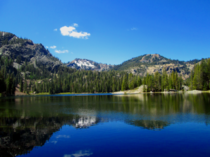 Campbell Lake in the Marble Mountains Wilderness California