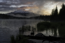 Camped overnight at Trillium Lake OR and was greeted with this sunrise
