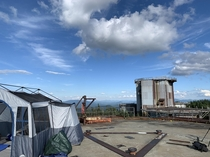 Camping on top of an abandoned Cold War radar base in Vermont