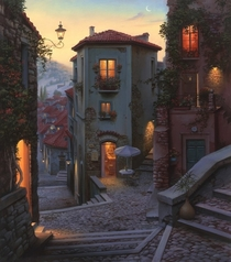 Campobasso Evening by Evgeny Lushpin  Google Streetview in Comments