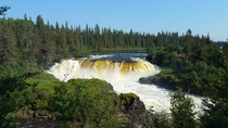 Canadian wilderness Pisew Falls Manitoba Canada