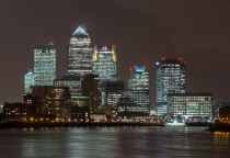 Canary Wharf skyline London England
