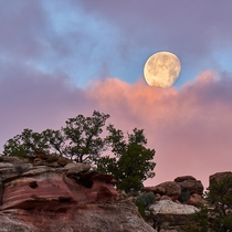 Candy Moonset Capitol Reef National Park Utah