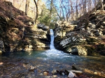 Caney Creek Falls in Ouachita National Forest Arkansas