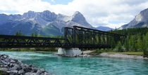 Canmore Engine Bridge   Canmore Alberta Canada Built using the salvage of a previous bridge to serve a coal mine later converted to pedestrian use Photo credit Mike Cheshire