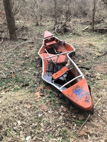 Canoe I found while hiking near a creek