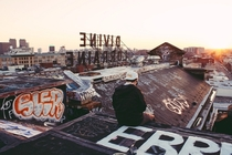 Cant beat watching the sunset from up here Divine Lorraine Hotel - Philadelphia