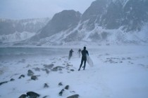 Cant stop surfers  Unstad Vestvgy in Lofoten Norway