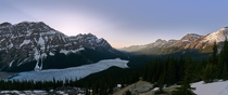 Cant wait to return to Canada Sunset behind Peyto Lake