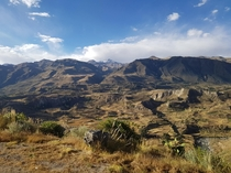 Canyon Colca during Peruvian winter