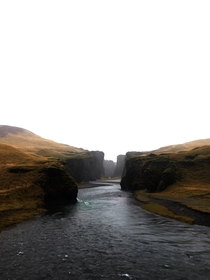 Canyon in south east Iceland
