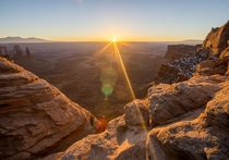 Canyonlands National Park UT Its not Mesa Arch but the full view right next to it